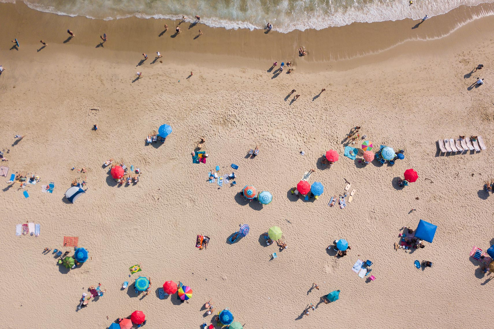 Beach Umbrellas Drone