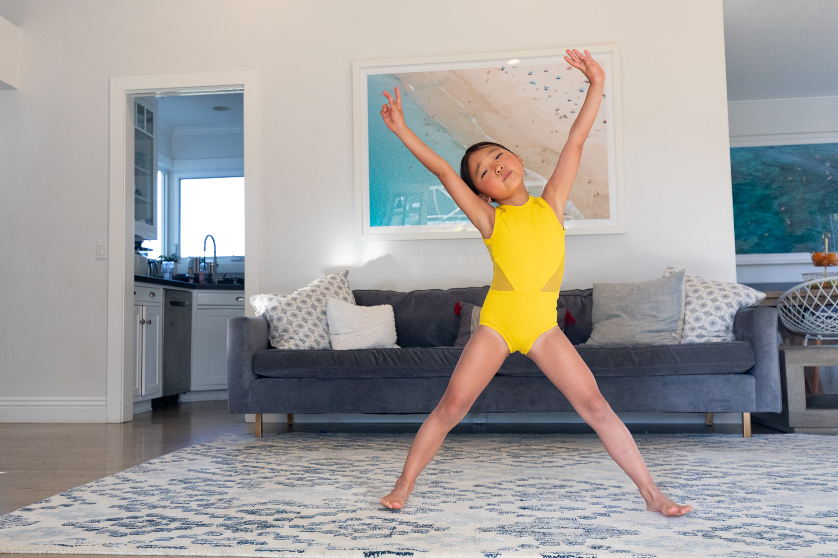 Young dancer at home