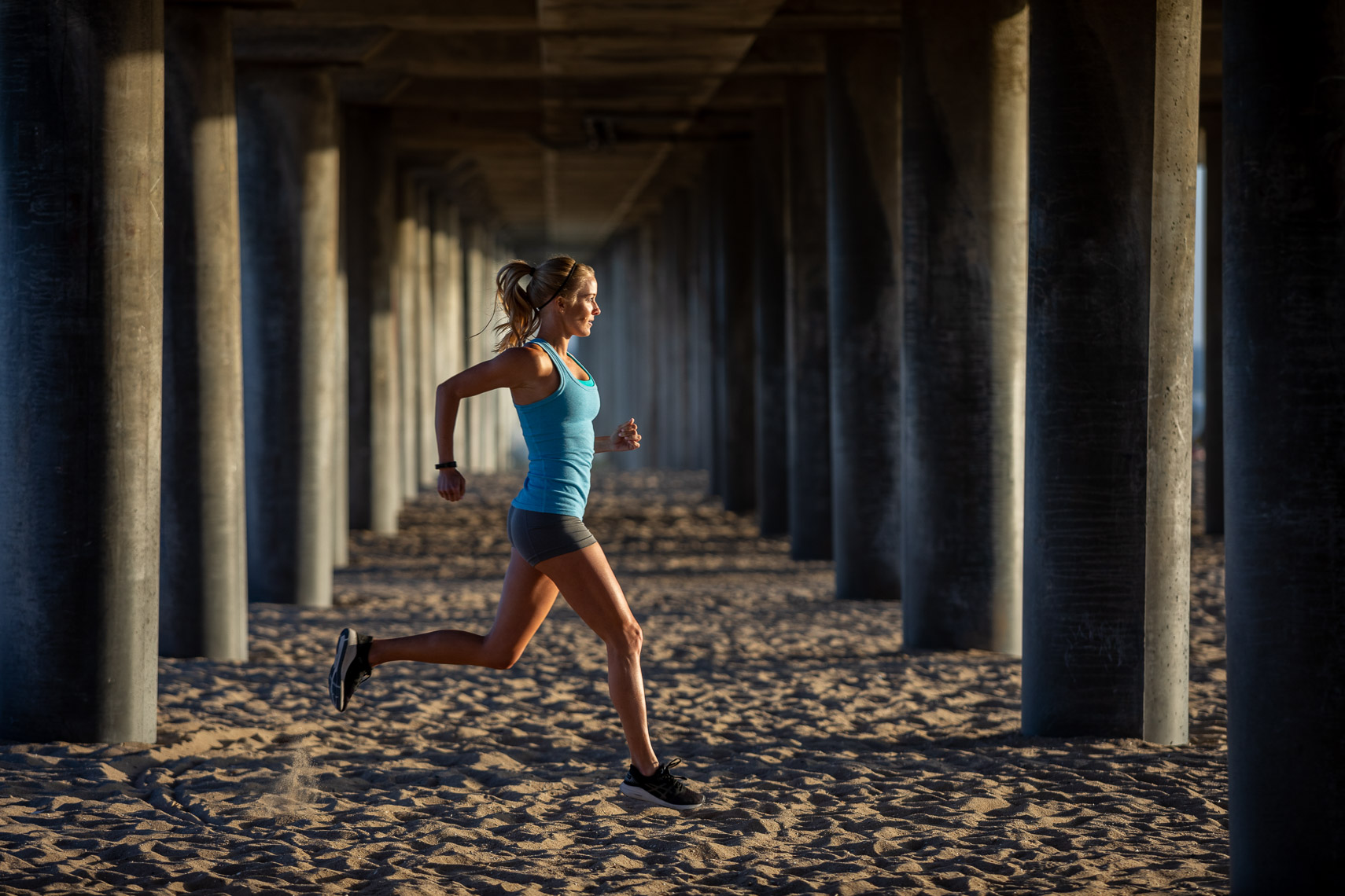 Runner Workout Beach